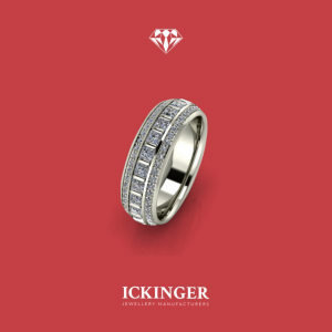 White Gold, Eternity Mens Ring