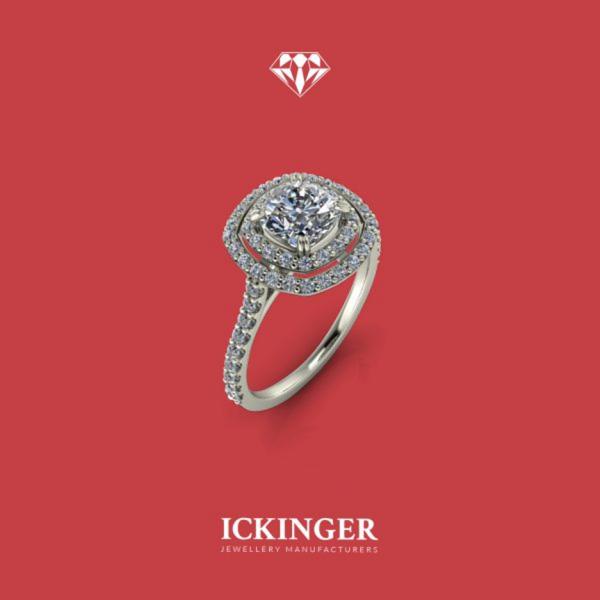 White Gold, Halo Maternity Ring