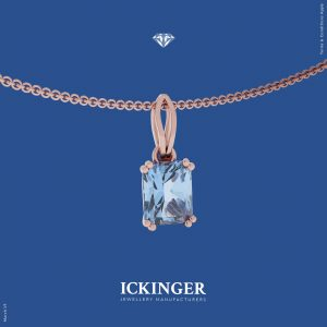 Aquamarine Rose Gold Necklace