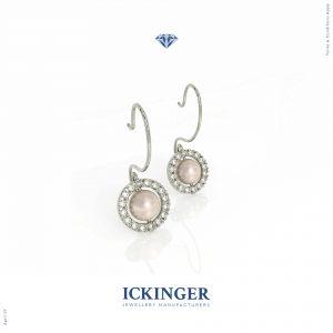Shepherd's Hook White Gold Diamond Earrings
