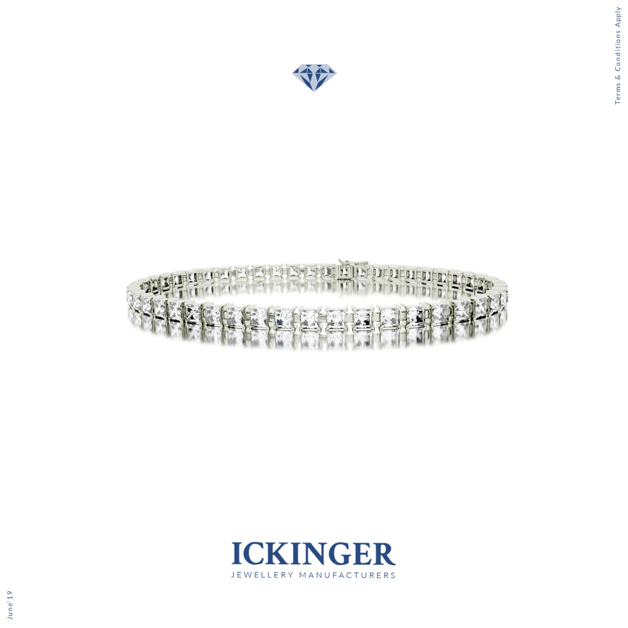 white gold moissanite diamond tennis bracelet ickinger. Black Bedroom Furniture Sets. Home Design Ideas