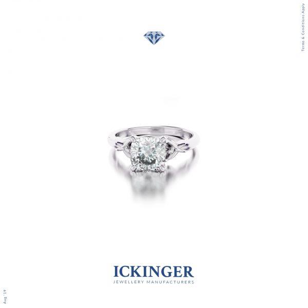 White Gold Moissanite Engagement Ring