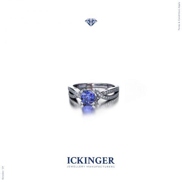 White Gold Tanzanite Engagement Ring