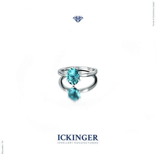 White Gold Topaz Engagement Ring IMG 2