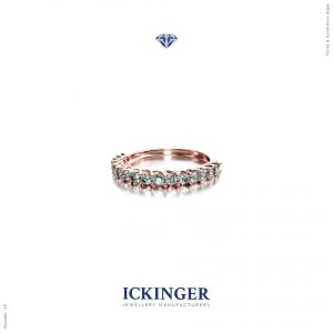 Rose Gold Eternity Engagement Ring IMG 1
