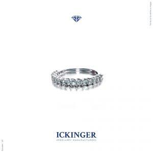 Rose Gold Eternity Engagement Ring IMG 2