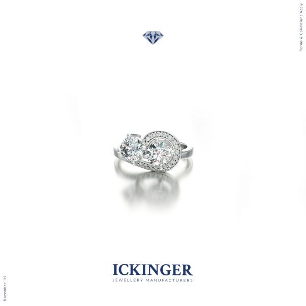 White Gold Two Stone Engagement Ring
