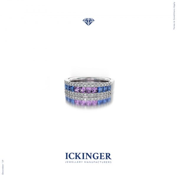 Sapphire Princess Cut Engagement Ring