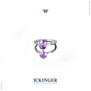 Oval Cut Amethyst Ring white gold