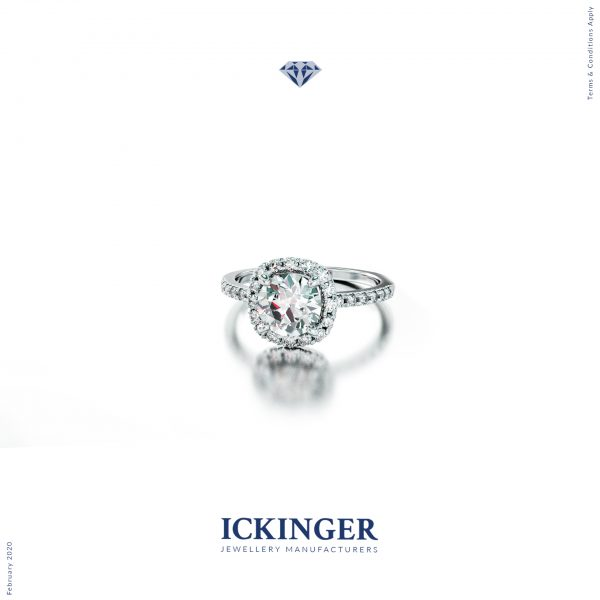 Exquisite. Classic. Heavenly. Another design from the ICKINGER Halo series, this stunning White Gold Moissanite Cushion Cut engagement ring is radiant and showcases elements of traditional and classic design. Enjoy a truly divine creation, made exclusively by ICKINGER.