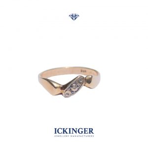 Gold Organic Diamond Ring