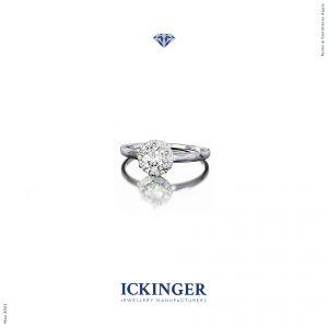 Silver ring halo jipsy set render 3