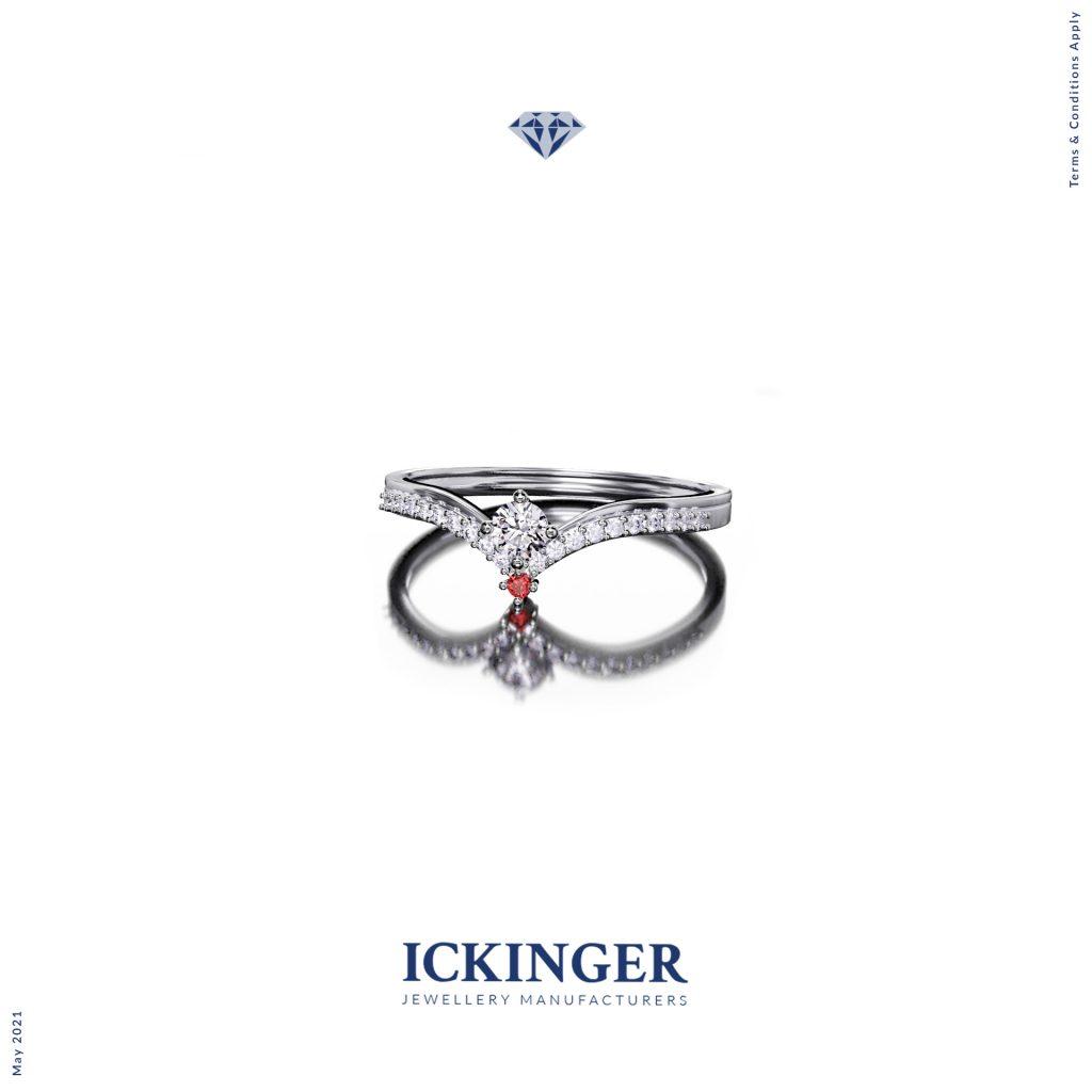 Silver ring sharp shank render file